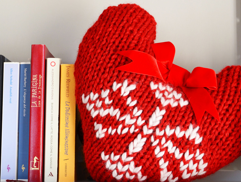 knit, decoration, xmas, heart, flake